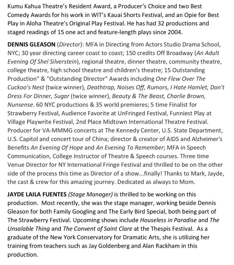Cast List page 4a 081016